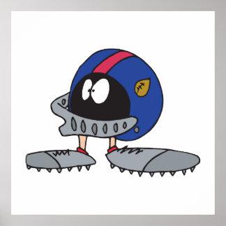 personaje de dibujos animados divertido del casco  posters