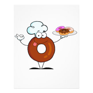 """personaje de dibujos animados divertido del cocine folleto 8.5"""" x 11"""""""
