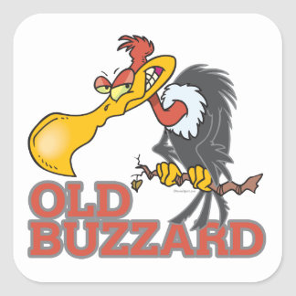 personaje de dibujos animados divertido del halcón pegatina cuadrada