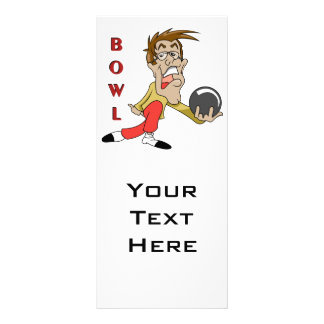 personaje de dibujos animados divertido del hombre tarjeta publicitaria personalizada