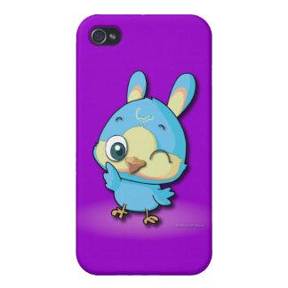 Personaje de dibujos animados divertido del pájaro iPhone 4 cárcasa