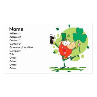 personaje de dibujos animados divertido del tarjetas de visita