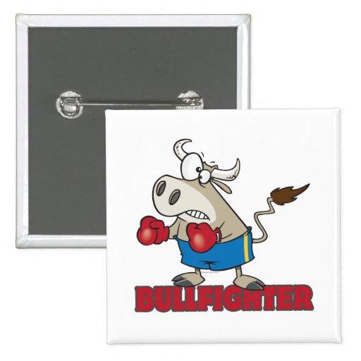 personaje de dibujos animados divertido del toro d pin cuadrada 5 cm
