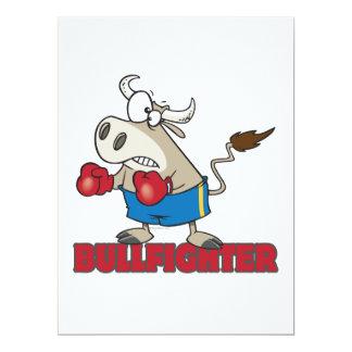 """personaje de dibujos animados divertido del toro invitación 6.5"""" x 8.75"""""""