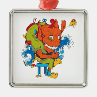 personaje de dibujos animados divertido del vector ornamentos de reyes