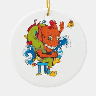 personaje de dibujos animados divertido del vector adornos de navidad