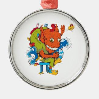 personaje de dibujos animados divertido del vector ornaments para arbol de navidad