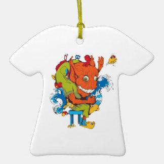 personaje de dibujos animados divertido del vector ornamentos de navidad
