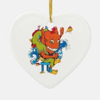 personaje de dibujos animados divertido del vector adorno de navidad