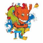 personaje de dibujos animados divertido del vector escultura fotografica