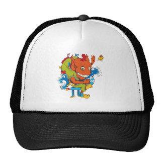 personaje de dibujos animados divertido del vector gorras de camionero