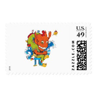 personaje de dibujos animados divertido del vector sellos
