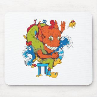 personaje de dibujos animados divertido del vector alfombrillas de ratón