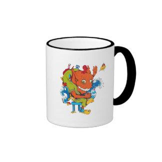 personaje de dibujos animados divertido del vector taza