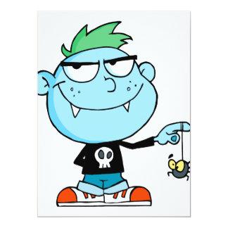"""personaje de dibujos animados divertido tonto invitación 6.5"""" x 8.75"""""""