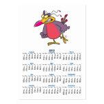 personaje de dibujos animados enojado enojado tarjetas de visita grandes