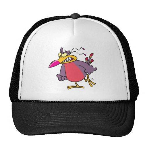 personaje de dibujos animados enojado enojado tont gorras de camionero