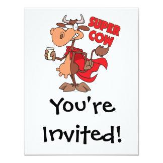 personaje de dibujos animados estupendo divertido invitaciones personales