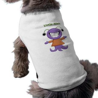 Personaje de dibujos animados extranjero púrpura e camisetas mascota