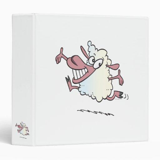 "personaje de dibujos animados feliz tonto lindo de carpeta 1 1/2"""