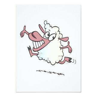 """personaje de dibujos animados feliz tonto lindo invitación 6.5"""" x 8.75"""""""
