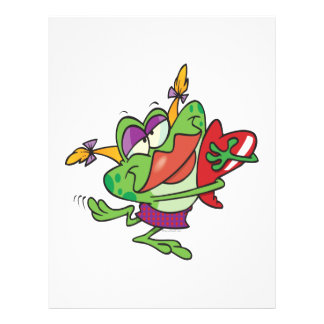 "personaje de dibujos animados femenino del froggy  folleto 8.5"" x 11"""
