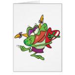 personaje de dibujos animados femenino del froggy  tarjeton