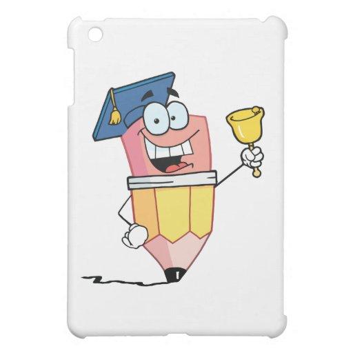 Personaje de dibujos animados graduado del lápiz q