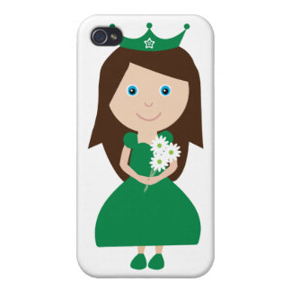 Personaje de dibujos animados irlandés bonito de p iPhone 4/4S carcasas