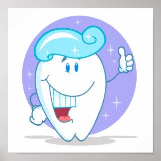 personaje de dibujos animados limpio feliz lindo d poster