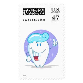 personaje de dibujos animados limpio feliz lindo timbres postales