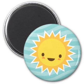 Personaje de dibujos animados lindo del sol del ka iman para frigorífico