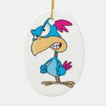 personaje de dibujos animados malo enojado lindo ornamentos de navidad