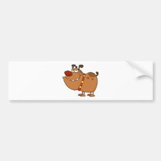 Personaje de dibujos animados perezoso del perro pegatina de parachoque