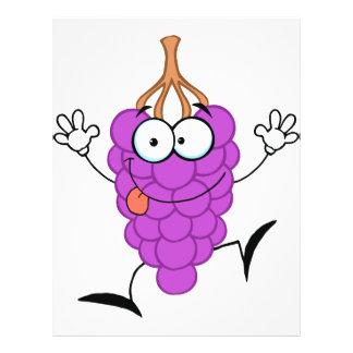 """personaje de dibujos animados púrpura divertido li folleto 8.5"""" x 11"""""""
