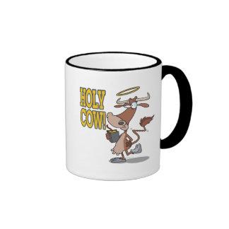personaje de dibujos animados santo tonto divertid taza
