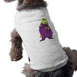 personaje de dibujos animados tonto de la berenjen camisetas de mascota
