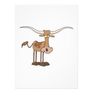 personaje de dibujos animados tonto de la vaca del invitación