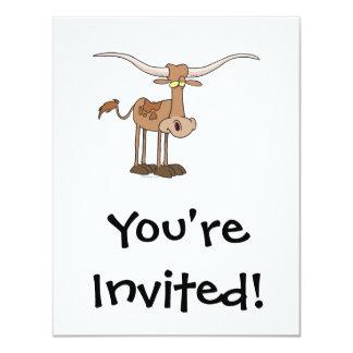 personaje de dibujos animados tonto de la vaca del anuncios personalizados