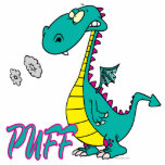 personaje de dibujos animados tonto del dragón del escultura fotográfica