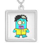 personaje de dibujos animados tonto del zombi del  collar personalizado
