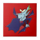 personaje de dibujos animados tonto divertido del  azulejo cerámica