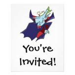personaje de dibujos animados tonto divertido del  invitaciones personales