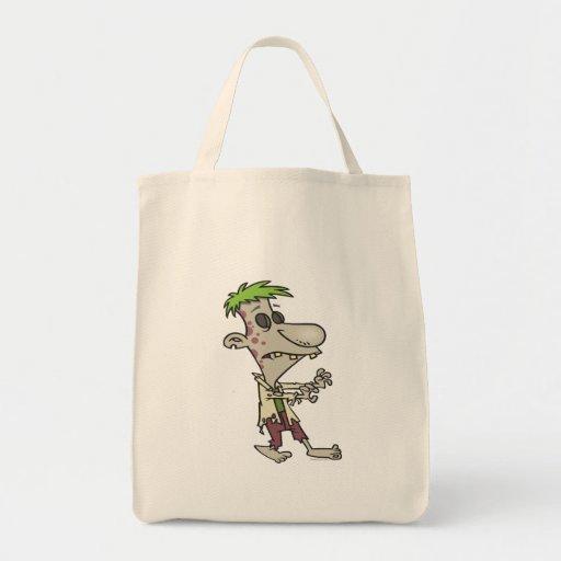 personaje de dibujos animados torpe tonto del zomb bolsas