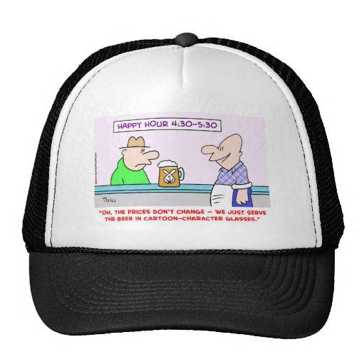 personajes de dibujos animados de la hora feliz gorras de camionero
