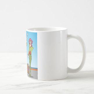 Personajes de dibujos animados de los chicas de la taza de café
