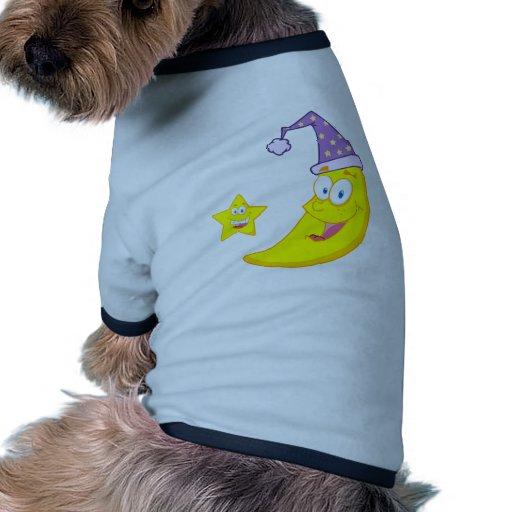 Personajes de dibujos animados felices de la masco camiseta de perrito