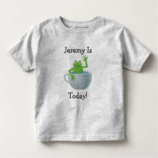 Personal 5th Birthday Frog In Cup Tee