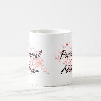 Personal Adviser Artistic Job Design with Butterfl Coffee Mug