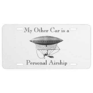 Personal Airship License Plate